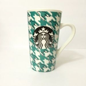 Starbucks Green Houndstooth Coffee Mug 2017